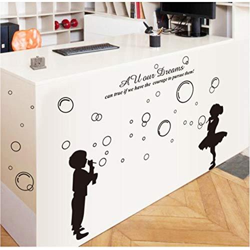 tzxdbh zwart spelen bubbels muur Stickers kinderen salon badkamer huisdecoratie verwijderen Vinyl muur stencil stickers meubels glas raamdecoratie