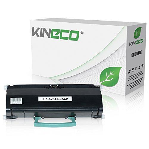 Toner kompatibel zu Lexmark X264DN, X363DN, X364DN, X364DW - X264H21G - Schwarz 9.000 Seiten