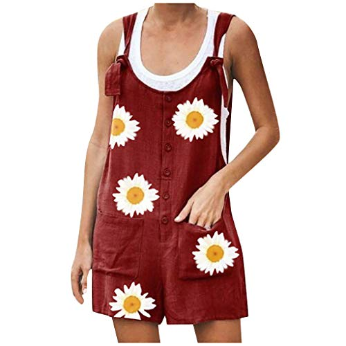 Review Of Sanyyanlsy Daisy Floral Printed for Women Plus Size Sleeveless Tank Tops Summer Rompers Ju...