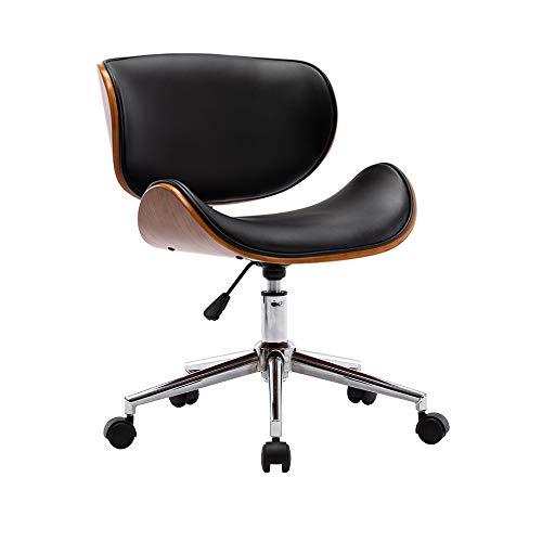 Mingone Massivholz Advanced Computer Chair Europäischer Studentenstuhl Büro Schreibtischstühle Freizeit Rücken Drehstuhl Einfacher Hebestuhl(Verchromt)