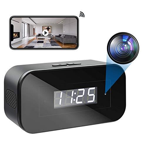 Mini Cámara Espía WiFi | Cámaras Espías Oculta 1080p Grabadora de Video Portátil con Visión Nocturna Detector de Movimiento Microcamera Inalámbrica de Seguridad para el Hogar Interior(2.4G WiFi)