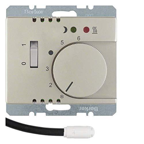 Hager ARSYS - plaat thermostaat vloerverwarming schakelaar lens + roestvrij staal