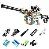 LVLUOKJ M416 / M2 / M249 Pistola de Bala Suave Pistola de Juguete de niño de explosión eléctrica estimula el Campo de Batalla, JF71A, Apto para Mayores de 7 años, Alcance 15 m / 49 pies
