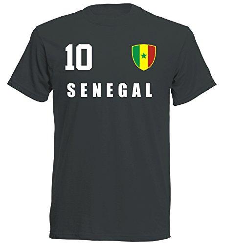 aprom Senegal Kinder T-Shirt Trikot ALL-10 SC - WM 2018 Fußball (164)