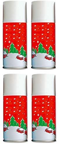 G4GADGET 4 x 120ml Heavy Duty Christmas Snow Spray Artificial Instant Snow Decorative Xmas Tree Window Frosting