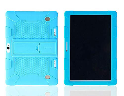 Mighty-eagle Universal Shockproof Silicone Stand Case Cover For 10.1' Inch Android Tablet PC,Heavy Duty Full Body Shockproof Rugged Protective Case (Sky Blue)