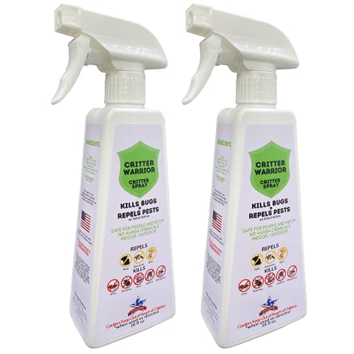 Critter Warrior Strong Peppermint Oil Spray - 2-16oz Bottles...