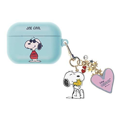 Peanuts Snoopy ピーナッツ スヌーピー AirPods Pro と互換性があります ケース スヌーピー キーホルダー エアーポッズ プロ 用 ケース 硬い スリム ハード カバー (ハッピー スヌーピー JOE COOL) [並行輸入品]