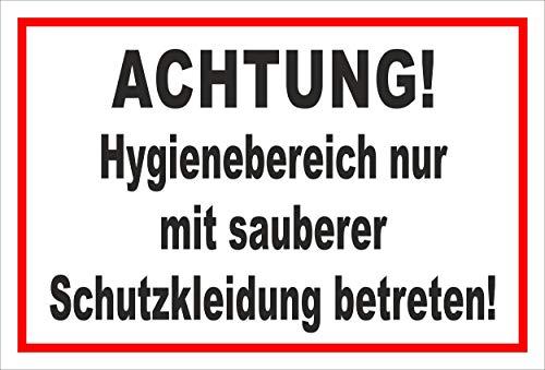 Melis Folienwerkstatt Schild Hygienebereich - 30x20cm - Bohrlöcher - 3mm Aluverbund – 20 VAR S00225-009-B