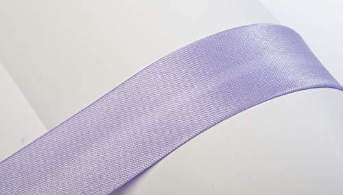 Jajasio Schrägband, 10m, Atlas (Satin), 19mm, gefalzt 28 ? Flieder, Textilband, Einfassband in 40 Farben