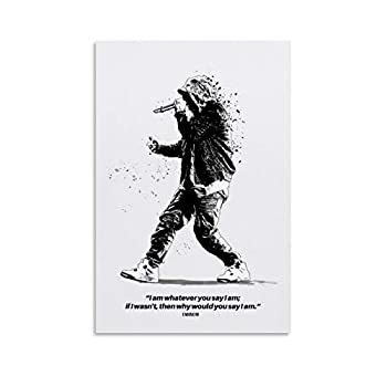 asdg Eminem Quotes Poster Decorative Painting Canvas Wall Art Living Room Posters Bedroom Painting 08x12inch 20x30cm  Unframe-style1