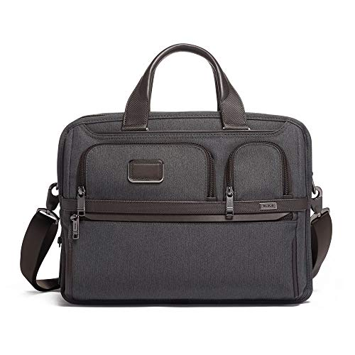 TUMI - Alpha 3 Expandable Organizer Laptop Briefcase - 15 Inch Computer Bag for Men and Women - Anthracite