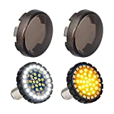 NTHREEAUTO 2' Bullet 1157 LED Turn Signal Light, Motorcycle Running Light, Switchback Front Bulbs Compatible with Harley Street Glide, Sportster, Road King
