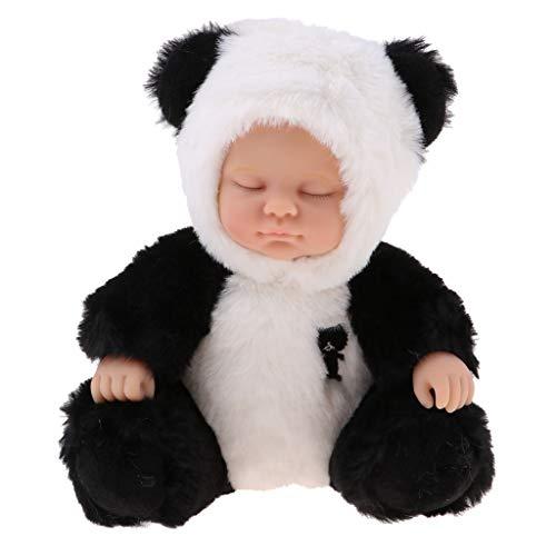 perfeclan Hot Cute Plush Sleeping Baby Dolls Juguetes Blandos Dormir Bebé Acompañar Juguetes Regalos (Panda)