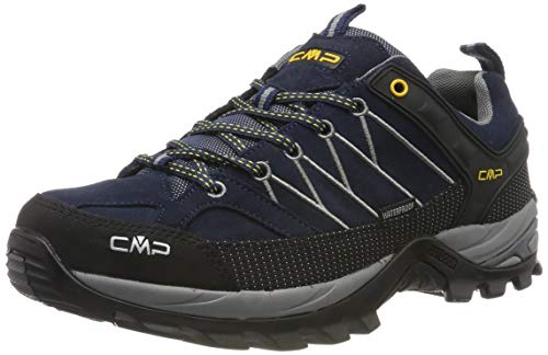 CMP Herren Rigel Low Shoes Wp Trekking- & Wanderhalbschuhe, Blau (B.Blue-Graffite 10nd), 42 EU