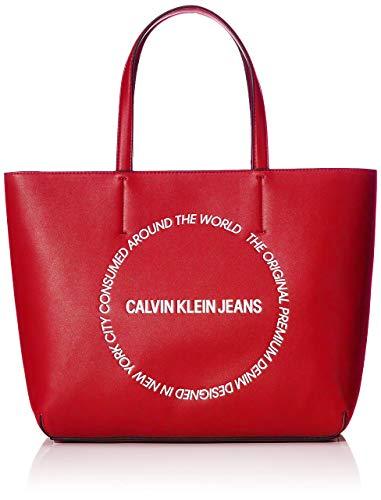 Calvin Klein - Sculpted Ew Tote 29, Bolsos totes Mujer, Rojo (Racing Red), 0.1x0.1x0.1 cm (W x H L)