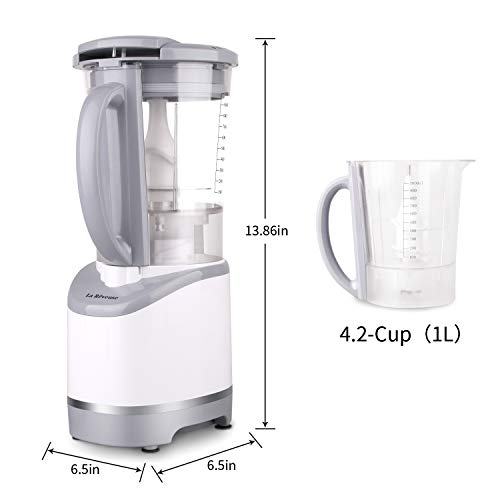 La Reveuse Multi-Functional Pulse Blender Countertop 400 Watts with 4.2-Cup Chopping Jar,for Blending, Mixing,Mincing,White