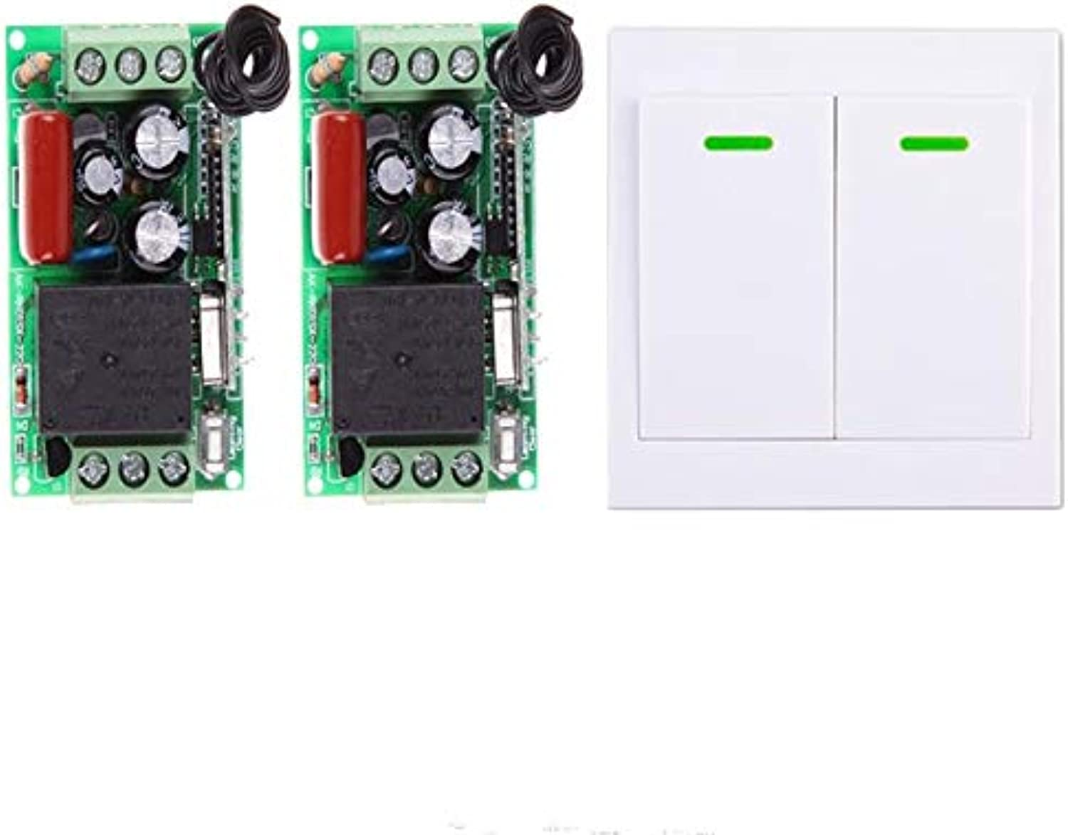 High Quality AC 220V 10A 1 Channel Wireless Remote Control Switch System Receiver Transmitter Wall Controller Commutateur  (color  2 Button 2 Switch)
