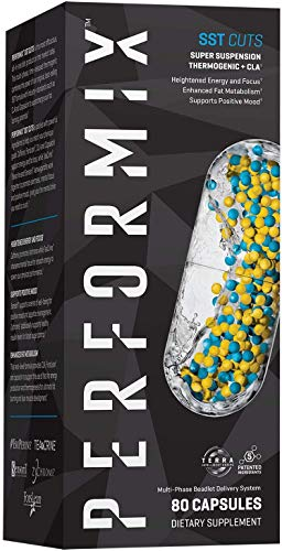 Performix SST Cuts Super Suspension Thermogenic with CLA, Energy, Metabolism, Focus, 80 Capsules