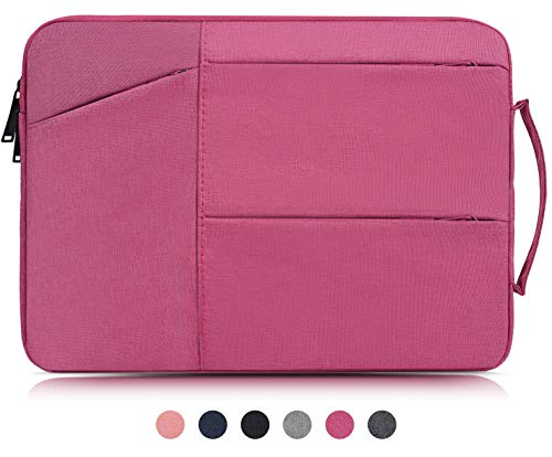 14-15 Inch Laptop Sleeve Case Portable Handbag Briefcase for Acer Aspire 14,HP Stream 14/Pavilion X360 14,Lenovo Yoga 910/920 14',Asus and Other 14-15.4 Inch Laptop Chromebook Carrying Bag,Rose Red
