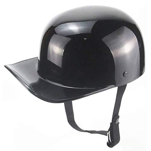 qwert Casco de motocicleta vintage para adultos, gorra de béisbol para hombres y mujeres, cascos de moto de cara abierta, aprobados por DOT, scooter, ciclomotor, Cruiser Jet Style Cascos (54-62 cm)
