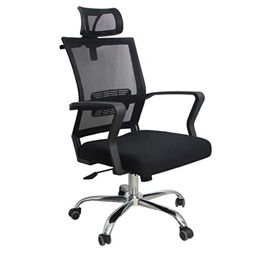 Ergonomic Office Chair Mesh Chair Heavy Duty Office Chair with Adjustable Headrest, 3D Armrest and Padded Lumbar Support, Tilt Function and Lock Position
