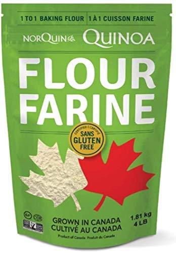 NorQuin Quinoa Flour - Great For Food Storage And Restaurants - Perfect Traditional Flour Alternative Gluten Free, Non GMO, & Fiber Product - Made In Canada (4lb)