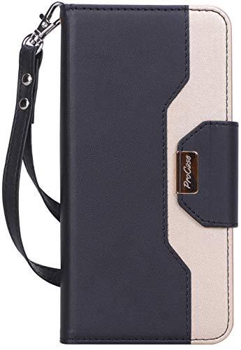 ProCase Wallet Case for Motorola Moto G7 / Moto G7 Plus, Folio Flip Case with Kickstand Card Holder, Folding Stand Protective Cover for Moto G7 / Moto G7 Plus 6.2 Inch 2019 Release –Black