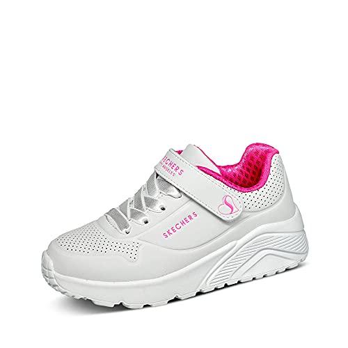 Skechers Uno Lite, Zapatillas Niñas, White, 34 EU