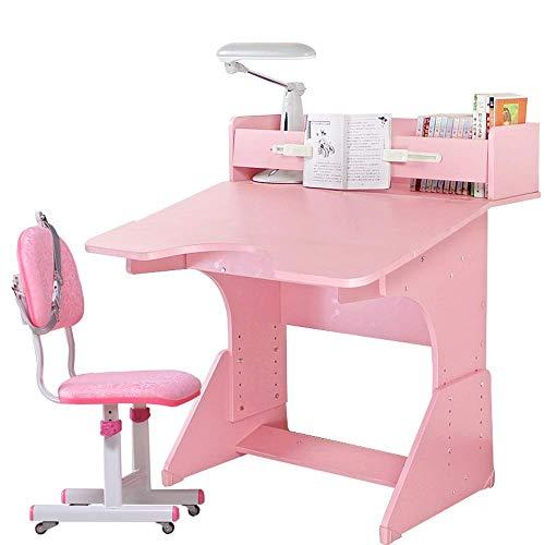 Escritorio y silla para niños Sistema de chicos y niñas Slot de cajones con lápices con mesas de madera y sillas para niños para aprender demasiado escolar. MISU ( Color : Beige , Size : 80X79X83CM )