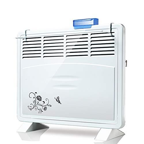 Chauffage électrique Convecteur Radiateur de sécurité Radiateur de Salle de Bain à Fixation Murale ou au Sol, Silencieux et à économie d'énergie (4/5 / 6sorties)