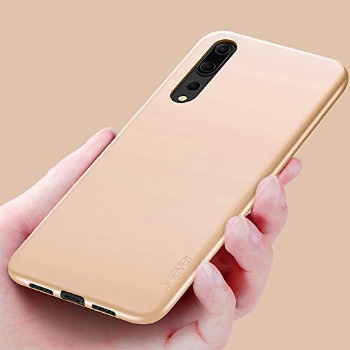 Huawei P20 Pro Hülle, [Guadian Serie] Soft Flex Silikon Premium TPU Echtes Telefongefühl Handyhülle Schutzhülle für Huawei P20 Pro Case Cover – Gold - 5
