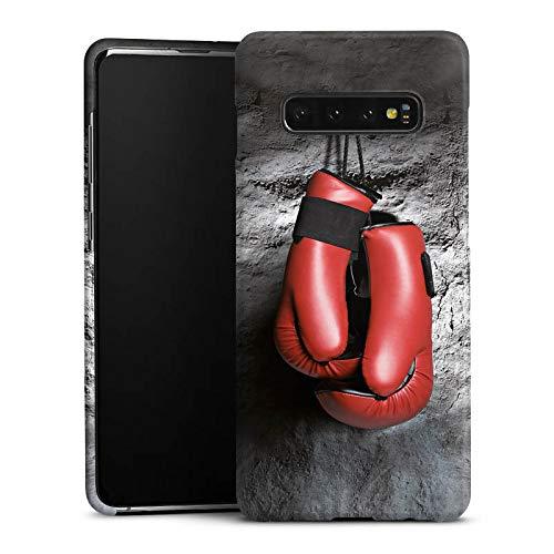 DeinDesign Handyhülle kompatibel mit Samsung Galaxy S10 Plus Hülle Premium Case Boxen Boxhandschuhe Fight