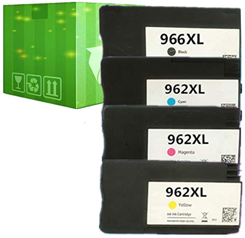 J2INK Remanufactured Ink Cartridge Replacement for HP 966XL 962XL 962 4 Pack Ink Cartridge 3JA04AN 3JA00AN 3JA01AN 3JA02AN OfficeJet Pro 9020 9025