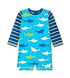 Hatley One Piece Rash Guard Swimsuits Maillot, Bleu (White Sharks 400), 3-6 Mois Bébé garçon