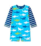 Hatley One Piece Rash Guard Swimsuits Traje de baño de una Pieza, Azul (Bluegreat White Shark 400), 12 Meses para Bebés
