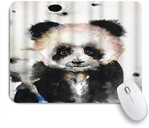 CIKYOWAY Mouse Pad,Giraffe Watercolor Cute Panda Animal Art Eyes Lovely Neck Portrait,Customized Mousepad Non-Slip Rubber Gaming Mouse Pad Rectangle Mouse Pads for Computers Laptop