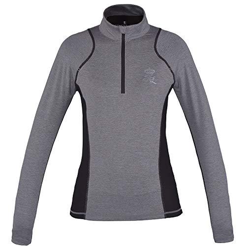 Kingsland LS-Trainingsshirt für Damen EDZELL langärmliges Damenshirt, beige Melange Größe S