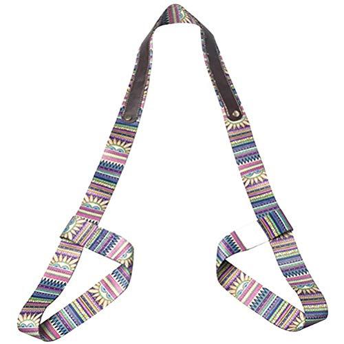 Qiekenao Yoga-Matten-Gurt, tragbarer Zoom, Stretch-Gurt, Seildruck, elastischer Fitnessschlinge, Yoga-Matten-Gurt