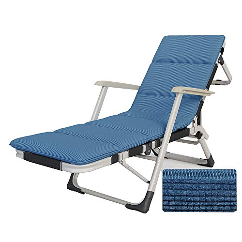 Tumbonas ZR Cojines Portátil Ajustable Teslin Silla Plegable Al Aire Libre Sillón De Playa para Camping Oficina Ocio Siesta Chair Silla De Respaldo
