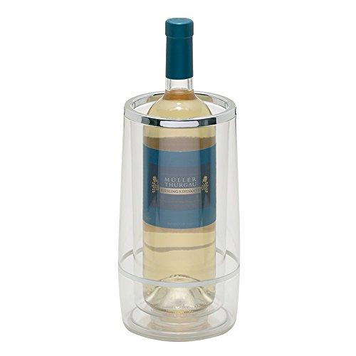 Excelsa Satin Glacette Porta Bottiglie Termico, 13 x13 x H 24 cm