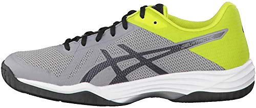 ASICS Herren Gel-Tactic B702N-9695 Multisport Indoor Schuhe, Aluminum Dark Grey Energy Green, 43.5 EU