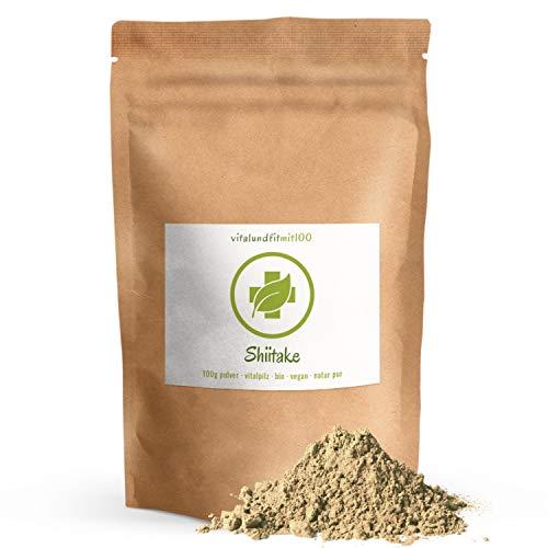 Bio Shiitake Pulver - 100 g - Lentinula edodes - auch