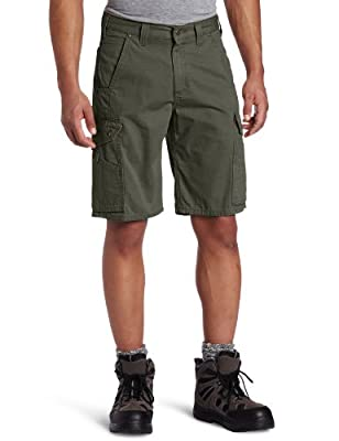 "Carhartt Men's 11"" Cotton Ripstop Cargo Work Short,Moss,36"