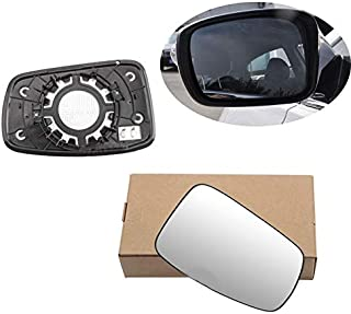 Vetro Specchio Retrovisore 1 Coppia Vetro Specchio Retrovisore Riscaldato Lato Porta Sinistra e Destra per BMW X5 E70 2008-2013 Blu