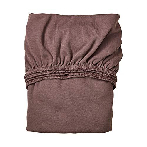 Leander Doppelpack weiches Jersey-Bettlaken für Babybett (warmes violett)