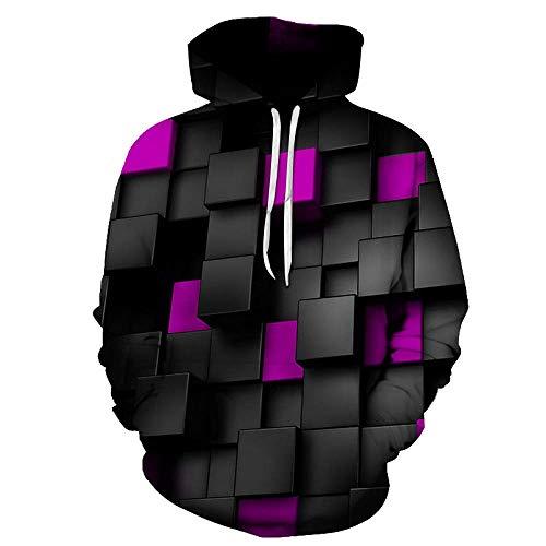 SQDWYA 3D Hoodie, Grafik Kunstdruck Muster Fashion Loose Top Digital Print Hoodie-6Xl