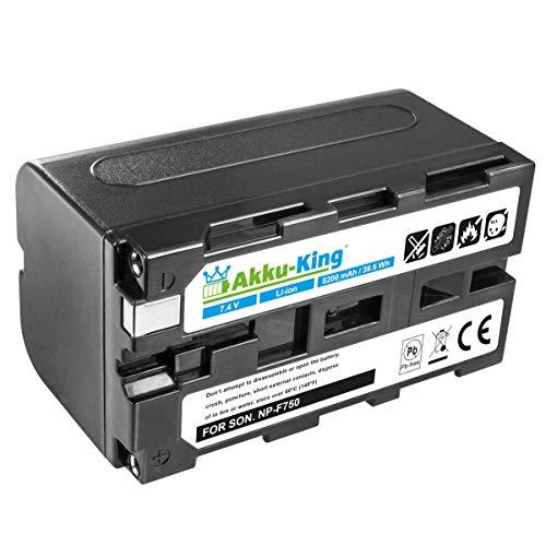 Akku-King Akku kompatibel mit Sony NP-F330, NP-F530, NP-F550, NP-F930 Li-Ion - 5200mAh - für NEX-EA50, CCD-SC5, DCR-TR8000, DSR-200, HVL-ML20, HVR-Z1J
