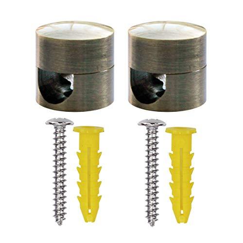 ZOHAR 2 Stück Aluminium Zweiteilige Wand- und Deckenpins für Textilkabel Deckenbefestigung Kabelbefestigung Affenschaukel Kabelhänger Retro Aufputz-Kabelhalter für Lampe DIY mit Schrauben & Dübeln