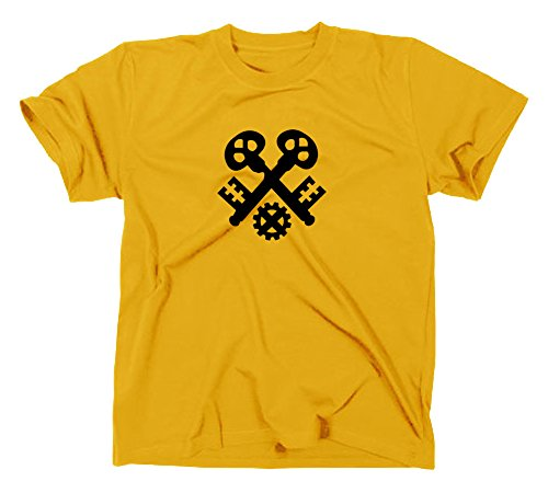 Schlosser Handwerk Zunft Logo T-Shirt, XXL, gelb